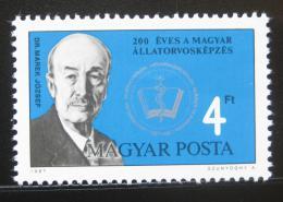 Poštovní známka Maïarsko 1987 Jozsef Marek, veterináø Mi# 3900