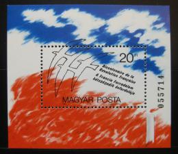 Poštovní známka Maïarsko 1989 Francouzská revoluce Mi# Block 203