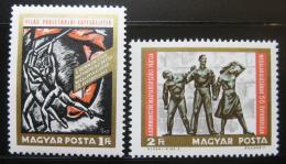 Poštovní známky Maïarsko 1968 Výroèí komunistické strany Mi# 2463-64