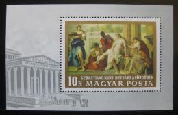 Poštovní známka Maïarsko 1968 Italské malíøství Mi# Block 67