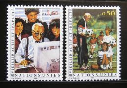 Poštovní známky OSN Ženeva 1993 Dùstojné stáøí Mi# 225-26