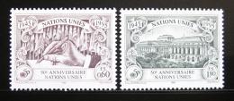 Poštovní známky OSN Ženeva 1995 Výroèí OSN Mi# 269-70 A