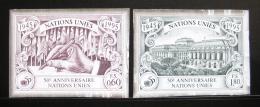 Poštovní známky OSN Ženeva 1995 Výroèí OSN neperf. Mi# 269-70 B