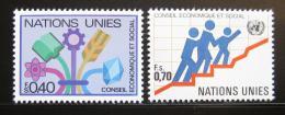 Poštovní známky OSN Ženeva 1980 ECOSOC Mi# 94-95