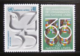 Poštovní známky OSN Ženeva 1980 Výroèí OSN Mi# 92-93