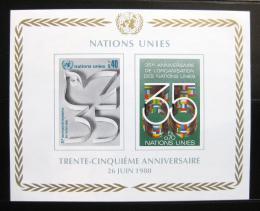 Poštovní známky OSN Ženeva 1980 Výroèí OSN Mi# Block 2