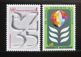 Poštovní známky OSN Vídeò 1980 Výroèí OSN Mi# 12-13