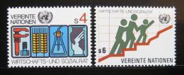 Poštovní známky OSN Vídeò 1980 ECOSOC Mi# 14-15