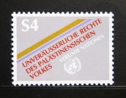 Poštovní známka OSN Vídeò 1981 Práva Palestincù Mi# 16