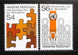 Poštovní známky OSN Vídeò 1981 Rok postižených Mi# 17-18