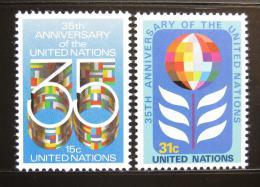 Poštovní známky OSN New York 1980 Výroèí OSN Mi# 346-47
