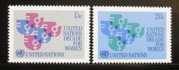Poštovní známky OSN New York 1980 Dekáda žen Mi# 342-43