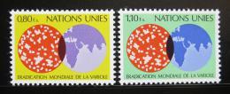 Poštovní známky OSN Ženeva 1978 Boj proti neštovicím Mi# 73-74