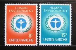 Poštovní známky OSN New York 1972 Lidské prostøedí Mi# 249-50