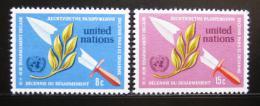 Poštovní známky OSN New York 1973 Dekáda odzbrojení Mi# 254-55