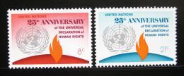 Poštovní známky OSN New York 1973 Lidská práva Mi# 262-63