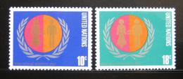 Poštovní známky OSN New York 1975 Mezinárodní rok žen Mi# 281-82