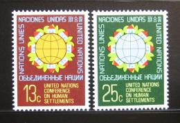 Poštovní známky OSN New York 1976 Konference o bydlení Mi# 297-98