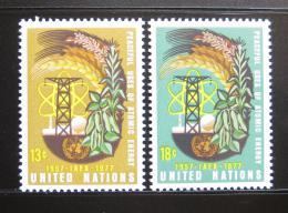 Poštovní známky OSN New York 1977 Atomová energie Mi# 313-14
