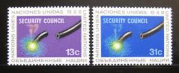Poštovní známky OSN New York 1977 Rada bezpeènosti Mi# 307-08