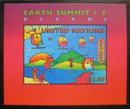 Poštovní známka OSN New York 1997 Sumit Zemì Mi# Block 14