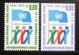 Poštovní známky OSN Ženeva 1975 Výroèí OSN Mi# 50-51