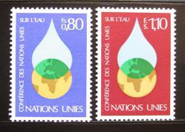 Poštovní známky OSN Ženeva 1977 Konference o vodì Mi# 64-65