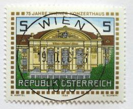 Poštovní známka Rakousko 1988 Vídeòská koncertní hala Mi# 1937