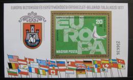 Poštovní známka Maïarsko 1977 Konference o bezpeènosti Mi# Block 126