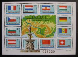 Poštovní známka Maïarsko 1977 Vodní trasa po Dunaji Mi# Block 128