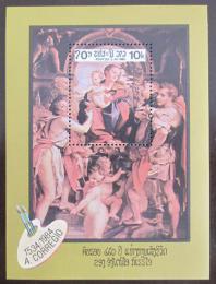 Poštovní známka Laos 1984 Umìní, Correggio Mi# Block 104
