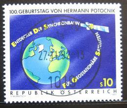 Poštovní známka Rakousko 1992 Satelit a Zemì Mi# 2082