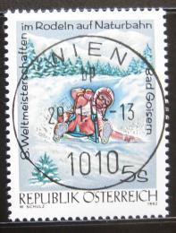Poštovní známka Rakousko 1992 MS v jízdì na saních Mi# 2050
