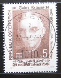 Poštovní známka Rakousko 1992 Sebastian Rieger, básník Mi# 2068