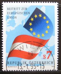 Poštovní známka Rakousko 1995 Èlenství v EU Mi# 2146