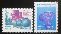 Poštovní známky Maïarsko 1974 Spolupráce se SSSR Mi# 2978-79