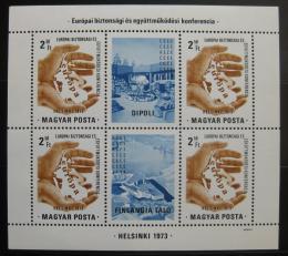 Poštovní známky Maďarsko 1973 Helsinská konference Mi# Block 99 - zvětšit obrázek