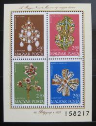 Poštovní známky Maïarsko 1973 Národní poklady Mi# Block 100