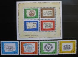 Poštovní známky Maïarsko 1972 Poštovní razítka Mi# 2760-63 + Block 88