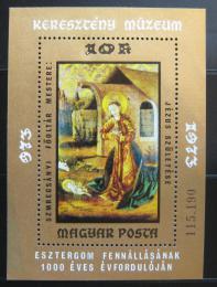 Poštovní známka Maïarsko 1973 Umìní Mi# Block 102