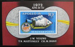 Poštovní známka Maïarsko 1972 Apollo 16 Mi# Block 93