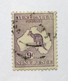 Poštovní známka Austrálie 1913 Klokan a mapa Mi# 12 Kat 18€