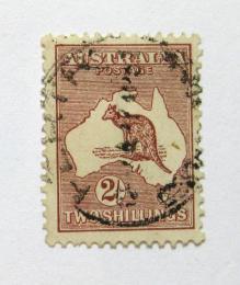 Poštovní známka Austrálie 1929 Klokan a mapa Mi# 85 Kat 20€