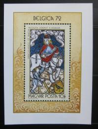 Poštovní známka Maïarsko 1972 Výstava BELGICA Mi# Block 90