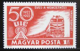 Poštovní známka Maïarsko 1972 Dieselová lokomotiva Mi# 2803