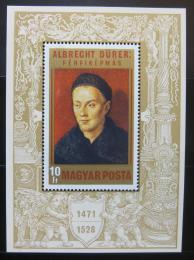 Poštovní známky Maïarsko 1971 Umìní, Albrecht Dürer Mi# Block 81