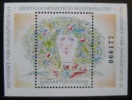Poštovní známka Maïarsko 1988 Výstava SOZPHILEX Mi# Block 196