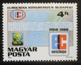 Poštovní známka Maïarsko 1988 Kongres Euroscheck Mi# 3965