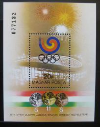 Poštovní známka Maïarsko 1988 Medailisti z LOH Soul Mi# Block 201