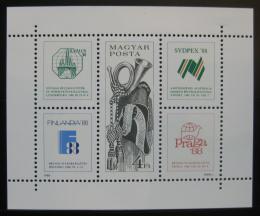 Poštovní známky Maïarsko 1988 Mezinárodní výstavy Mi# Block 197
